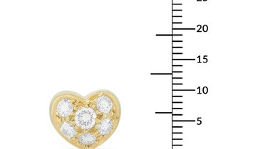 Tiffany & Co. Tiffany & Co. 18K Yellow Gold 0.35 ct Diamond Heart Earrings