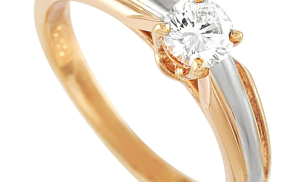 Cartier Cartier 18K Yellow, White and Rose Gold 0.30 ct Diamond Engagement Ring