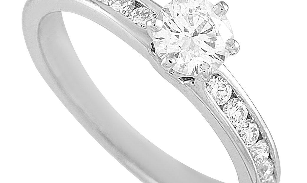 Tiffany & Co. Tiffany & Co. Platinum 0.54 ct Diamond Engagement Ring