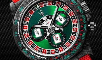 "Rolex DiW NTPT Carbon Daytona ""LUCKY PLAYER CASINO"" (Retail: US$55,000)"