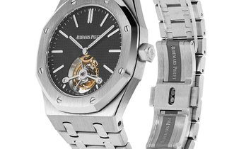 Audemars Piguet Royal Oak Stainless Steel Tourbillon Open Back Watch 26512ST.OO.1220ST.01