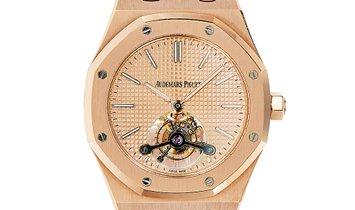 Audemars Piguet Royal Oak 18k Rose Gold Extra-Thin Open Case Back Watch 26515OR.OO.1220OR.01