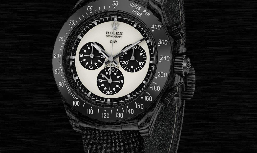 "Rolex DiW Cosmograph NTPT Carbon Daytona Panda ""PAUL NEWMAN BLACK"" (Retail:US$49,500)"