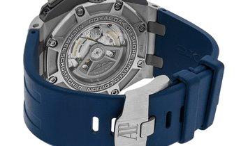Audemars Piguet Royal Oak Offshore Schumacher Platinum Grey Index Dial Watch 26568PM.OO.A021CA.01