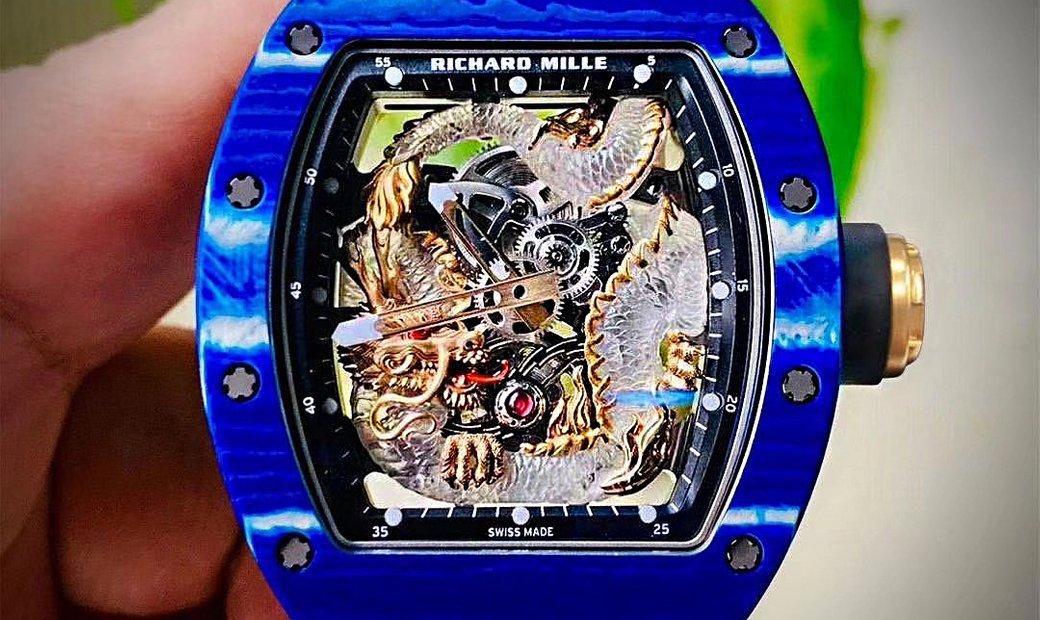 Richard Mille [NEW] RM 57-03 Blue Dragon Sapphire Tourbillon