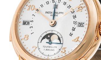 Patek Philippe Complications Rose Gold Sky Moon Tourbillon Watch 5016R