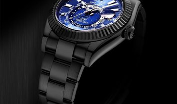 "Rolex DiW Black DLC ""BLUE & BLACK"" Sky-Dweller 42mm 326934 (Retail:US$39,990)"
