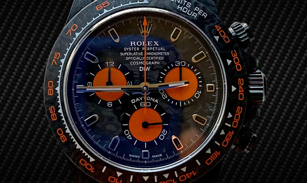 "Rolex DiW Cosmograph NTPT Carbon Daytona ""ALL CARBON ORANGE EDITION"" (Retail:US$55,000)"