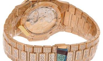 Patek Philippe Nautilus Rose Gold Factory Gem Set Watch 5719/10R