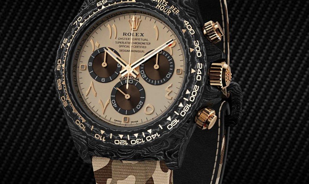 "Rolex DiW NTPT Carbon Daytona ""DESERT EAGLE ARABIC"" (Retail:US$56,800)"