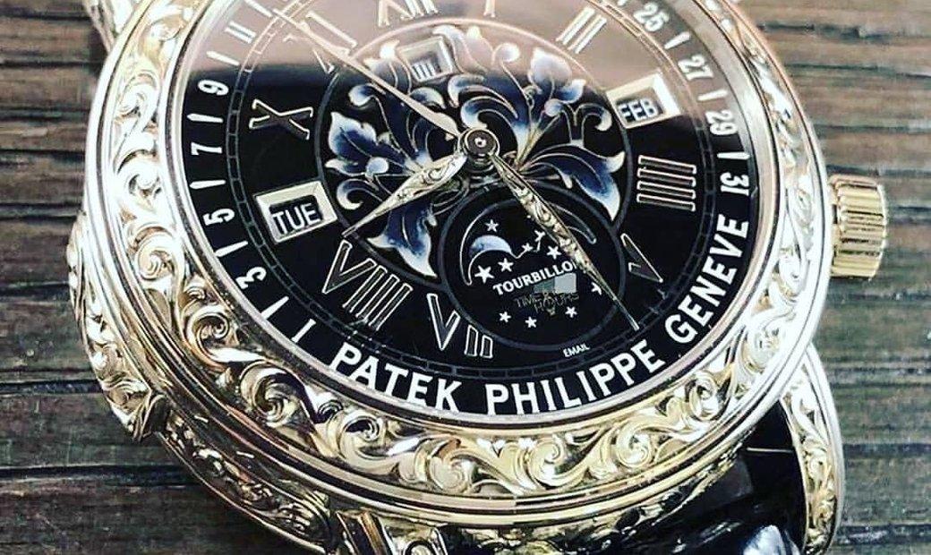 Patek Philippe [NEW] Grand Complications Sky Moon Tourbillon 6002G Black Dial