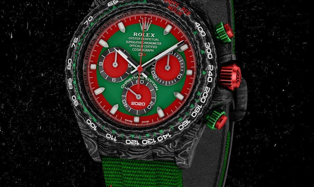 "Rolex DiW [LIMITED 1 PIECE] NTPT Carbon Daytona ""CHRISTMAS EDITION"" (Retail:US$56,800)"