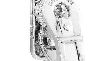 Bvlgari Bvlgari Parentesi 18K White Gold ~2.50 ct Diamond Earrings