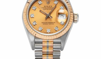 Rolex Lady-Datejust 69179, Baton, 1985, Very Good, Case material Yellow Gold, Bracelet