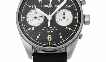 Bell and Ross Vintage 126 Chronograph BR 126, Arabic Numerals, 2002, Good, Case materia