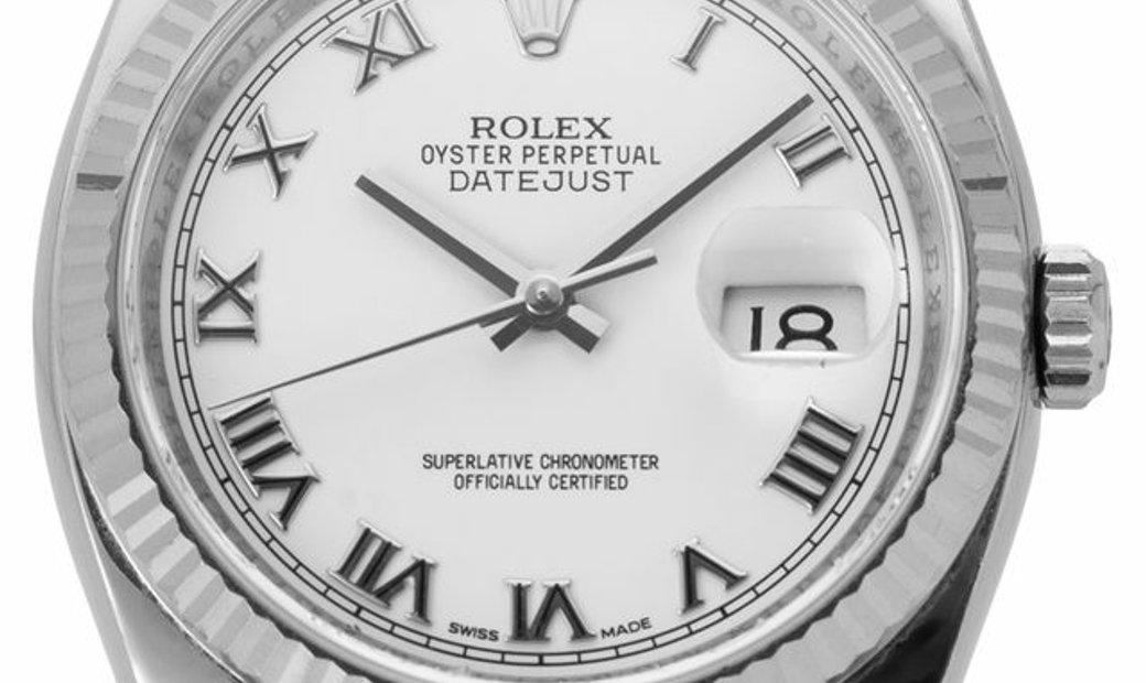 Rolex Datejust 116234, Roman Numerals, 2014, Very Good, Case material Steel, Bracelet m