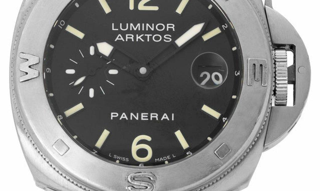 Panerai Luminor PAM00092, Baton, 2004, Used, Case material Steel, Bracelet material: Ru
