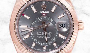 Rolex Sky-Dweller 326935-0007 Rose Gold and Dark Rhodium Dial