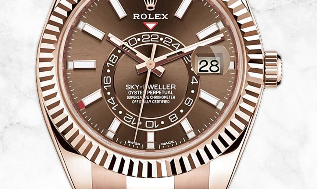 Rolex Sky-Dweller 326935-0006 Everose Gold Chocolate Dial Oyster Bracelet