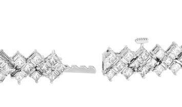 LB Exclusive LB Exclusive 14K White Gold 8.00 ct Diamond Bracelet