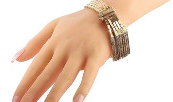 LB Exclusive LB Exclusive 18K Rose Gold Antique Tassel Bracelet