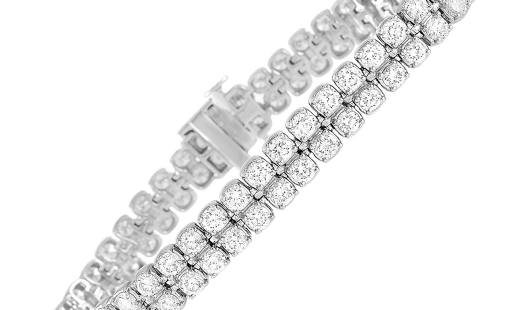 LB Exclusive LB Exclusive 14K White Gold 10.75 ct Diamond Bracelet