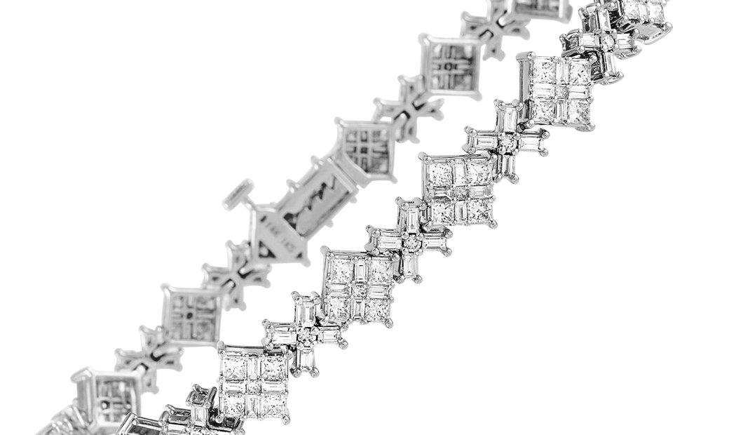 LB Exclusive LB Exclusive 14K White Gold 4.75 ct Diamond Bracelet