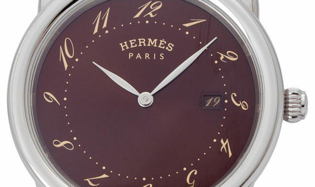 Hermes Arceau  AR5.710, Arabic Numerals, 2014, Very Good, Case material Steel, Bracelet