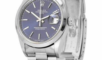 Rolex Oyster Perpetual Date 15200, Baton, 1995, Good, Case material Steel, Bracelet mat