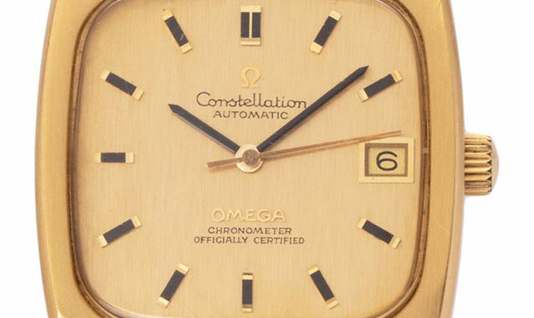 Omega Constellation 166.059, Baton, 1970, Good, Case material Yellow Gold, Bracelet mat