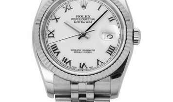 Rolex Datejust 116234, Roman Numerals, 2006, Very Good, Case material Steel, Bracelet m