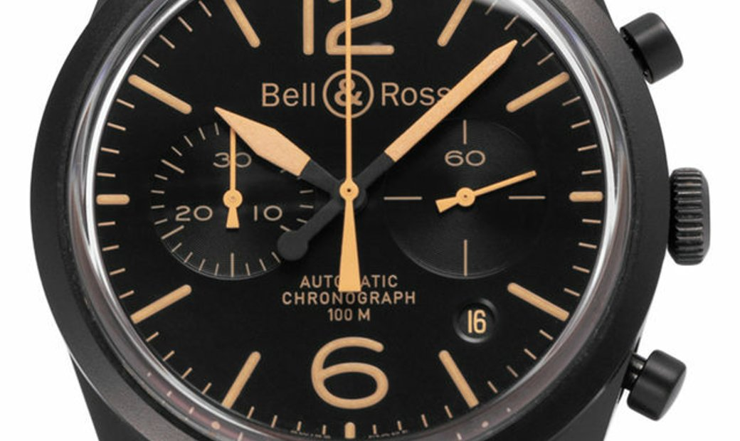 Bell and Ross Vintage 126 BR126-94, Baton, 2010, Very Good, Case material Steel, Bracel