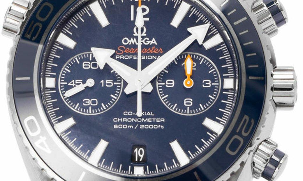 Omega Seamaster Planet Ocean 600 M Chronograph 232.90.46.51.03.001, Baton, 2016, Good,
