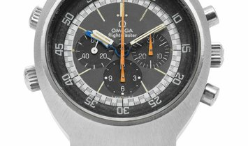 Omega Flightmaster 145026, Arabic Numerals, 1970, Used, Case material Steel, Bracelet m