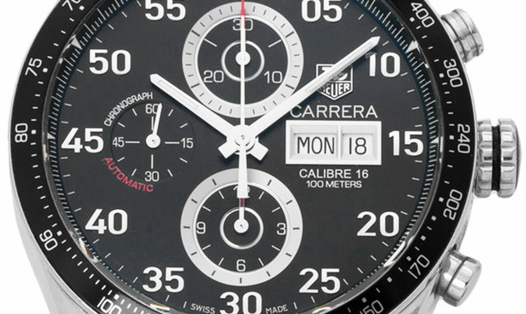 TAG Heuer Carrera CV2A10.BA0796, Arabic Numerals, 2010, Very Good, Case material Steel,