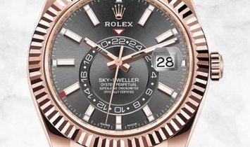 Rolex Sky-Dweller 326235-0006 Everose Gold Dark Rhodium Dial Oysterflex Bracelet