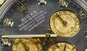 Rolex Daytona Cosmograph 116503-0009 Yellow Rolesor Diamond Set Black Mother-0f -Pearl Dial
