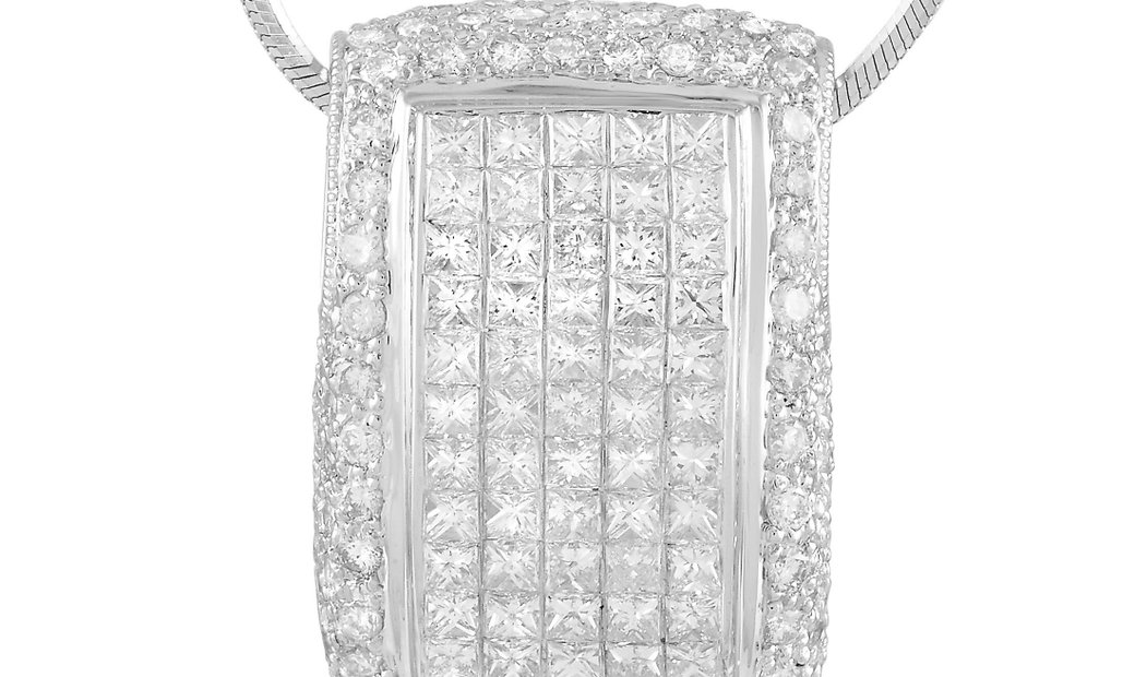 LB Exclusive LB Exclusive 18K White Gold 2.65 ct Diamond Pendant Necklace