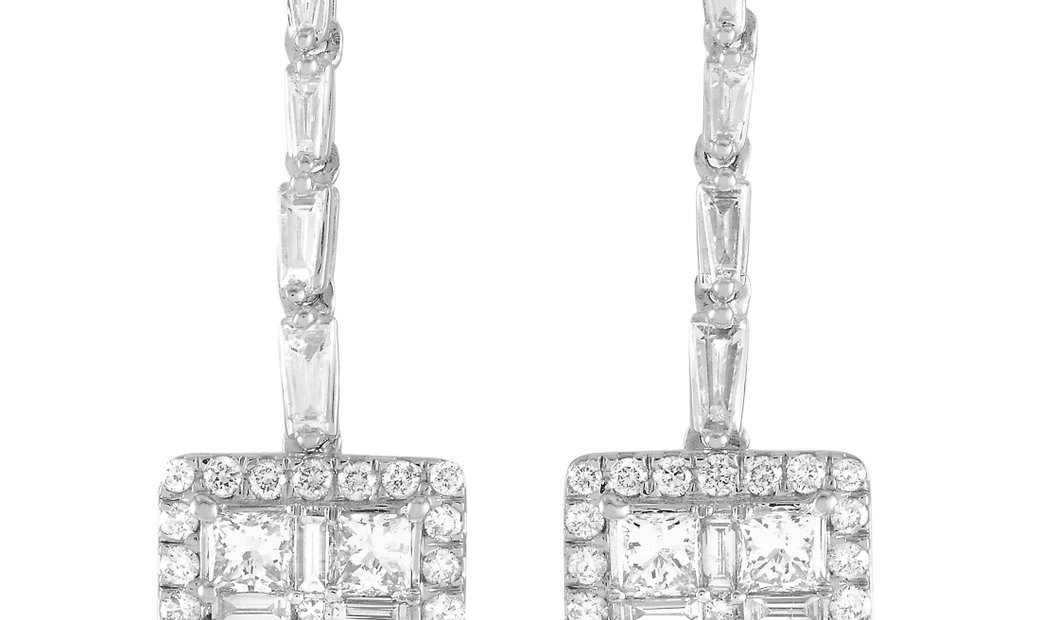 LB Exclusive LB Exclusive 14K White and Rose Gold 1.50 ct Diamond Earrings