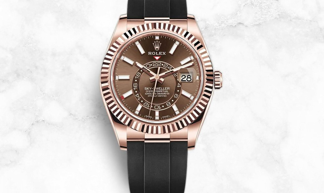 Rolex Sky-Dweller 326235-0005 Everose Gold Chocolate Dial with Oysterflex Bracelet