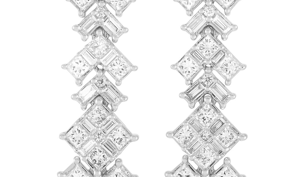 LB Exclusive LB Exclusive 14K White Gold 1.75 ct Diamond Earrings