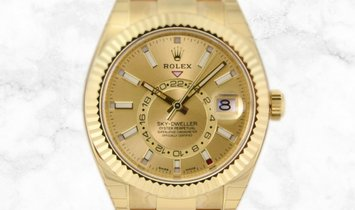 Rolex Sky-Dweller 326938-0003  Yellow Gold Champagne Dial
