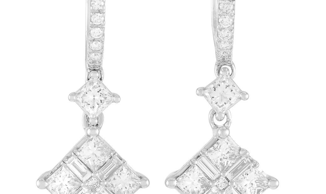 LB Exclusive LB Exclusive 14K White Gold 1.50 ct Diamond Earrings