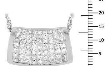 LB Exclusive LB Exclusive 18K White Gold 4.50 ct Diamond Pendant Necklace