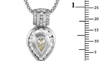 LB Exclusive LB Exclusive 18K White Gold 1.19 ct Diamond Pendant Necklace