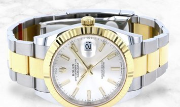 Rolex Datejust 41 126333-0001 Oystersteel and Yellow Gold Silver Dial Oyster Bracelet