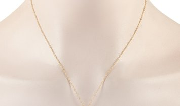 LB Exclusive LB Exclusive 14K Yellow Gold 1.00 ct Diamond Pendant Necklace