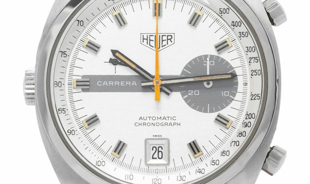 Heuer Vintage Carrera 1553, Baton, 1970, Good, Case material Steel, Bracelet material: