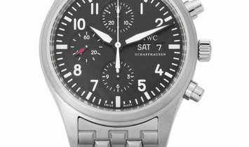 IWC Pilots Chronograph IW371704, Arabic Numerals, 2009, Very Good, Case material Steel,