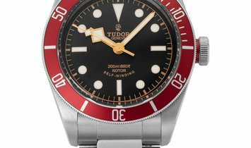 Tudor Heritage Black Bay 79220R, Baton, 2017, Very Good, Case material Steel, Bracelet